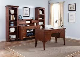 executive desk with poplar solids home office furniture cherry finished