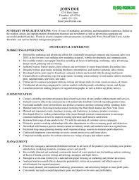 Best Marketing Resume Free Resume Templates 2018