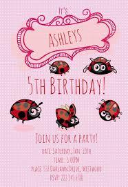 Ladybug Invitations Template Free Cute Ladybugs Free Printable Birthday Invitation Template