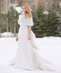White Winter Wedding Dress Dresscab
