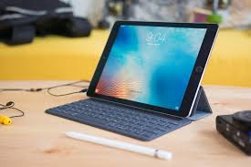 apple 9 7 ipad pro. an ipad propped up with our pick for pro keyboard case. apple 9 7