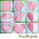 Как из бумаги сделать сердечко открытку