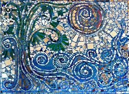 broken glass mosaic tile designs broken