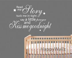 Kiss Me Goodnight Quote Wall Sticker Baby Nursery Kiss Me - Baby nursery  wall decals sayings