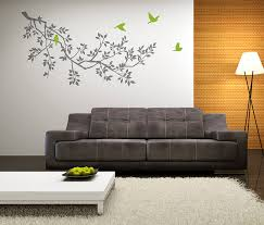 wall stickers spring branches grey