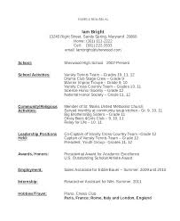 First Job Resume Resume Examples For Teenager Resume Example For