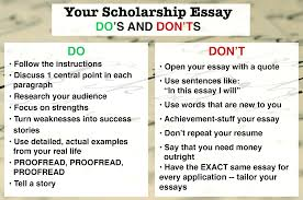 dos and don ts of cover letters jboss administration sample resume cover letter why i should receive a scholarship essay examples why how write winning scholarship essay steps dosdontsscholes why i should receive a examples