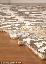 top tips xu bing s rug is curly on display at the virginia museum of fine
