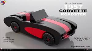 wooden toy car plans new wood toy plans 1957 corvette roadster madeira