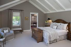 traditional master bedrooms. Grey Wall Color With White Vaulted Ceiling For Traditional Master Bedroom Makeover Ideas Bedrooms