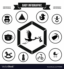 Baby Infographic Template Simple Style Royalty Free Vector