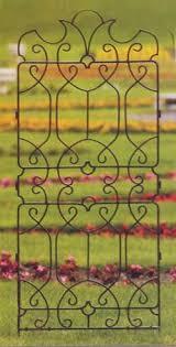 wrought iron garden wall trellises