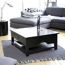 coffee table square black coffee table square coffee table with storage drawers statue above
