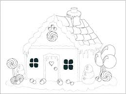 Gingerbread Man Coloring Page Template House Pages Ginger Bread