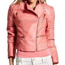 rose pink leather jacket