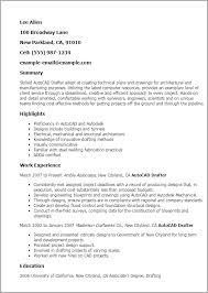 Resume Templates: Autocad Drafter