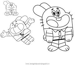 Disegno Gumball 04 Personaggio Cartone Animato Da Colorare Con
