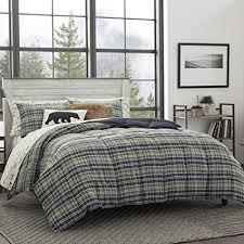 green plaid comforter. Contemporary Plaid Eddie Bauer Rugged Plaid Comforter Set FullQueen Dune To Green E