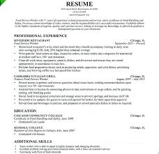 Resume Examples Food Service Cafeteria Worker Resume Vibrant Food ...