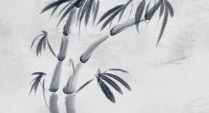 sumi e plum bamboo