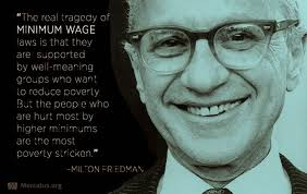 Milton Friedman Quotes Custom Matthew Rousu's Economics Blog Milton Friedman On Minimum Wage