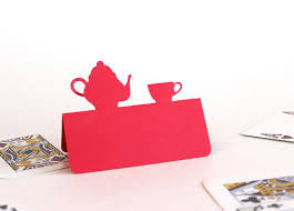 Tea Party Place Cards Set Of 50 Teapot And Teacup