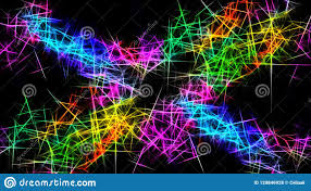 Rainbow Sparks Dark Background ...