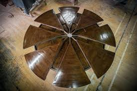 extendable round table modern design steel and by wood metal dining