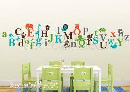 kids alphabet vinyl decal abc decal