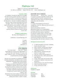 Resume Samples For Hospitality Industry Restaurant Manager Resume