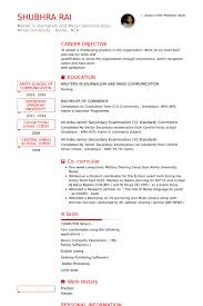 Fresher Resume Template Best of Fresher Resume Samples VisualCV Resume Samples Database