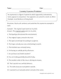 englishlinx com homophones worksheets englishlinx com board oxymoron figurative language worksheets
