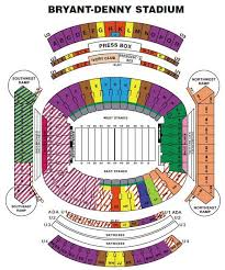 Alabama Seating Chart Bryant Denny Bryant Denny Seating Chart Bryant Denny Stadium Seating