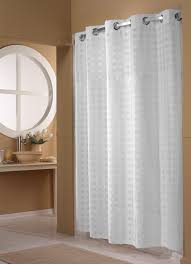 basket weave hookless shower curtain