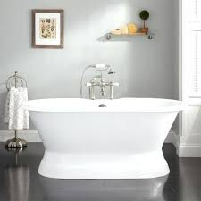 freestanding tubs cast iron double ended pedestal tub freestanding tubs with wall mount faucet