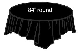 84 plastic round tablecover black