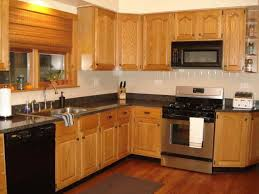 New Black Stainless Steel Appliances With Oak Cabinets At 5k5info