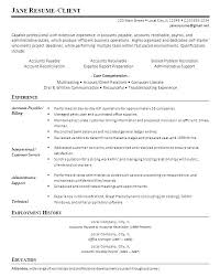Example Of A Good Resume Custom 60 Sample Resumes For Accounts Payable Proposal Spreadsheet