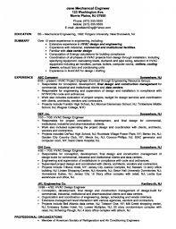 Disney Mechanical Engineer Sample Resume Letter Example