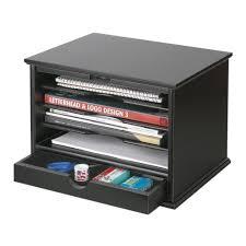 victor 4 shelf desktop organizer black