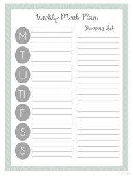 Menu Planning Template Printable Meal Planning Sheets Under Fontanacountryinn Com
