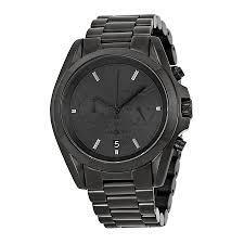 michael kors bradshaw chronograph black ion plated mens watch mk5550 zoom