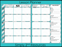 Free Lesson Plan Format Simply 24nd Resources Free Lesson Plan Template Classroom 1