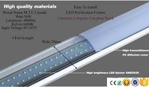 led t8 4 feet purification fixture light home light 36w 6000k 4000lm light for no need ballast easy to install direct line voltage