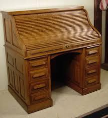 antique quarter sawn oak 50 high s raised panel roll top desk