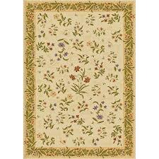 mohawk home summer flowers beige beige rectangular indoor tufted area rug common 4 x