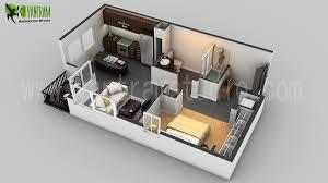 D Floor Plan CGI Design For Small House Planos Casas - Small apartment floor plans 3d
