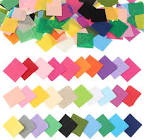 Outuxed Tissue Paper Squares, Tissue Paper for Crafts, Colored Tissue Paper, 4800pcs 1inch, 12 Assorted Colors