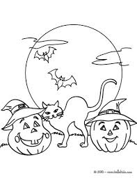 Small Picture Smiling pumpkin with halloween friends coloring pages Hellokidscom
