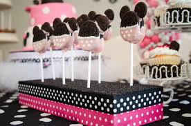 Pink And Black Minnie Mouse Decorations Planning Minnie Mouse Party Favors